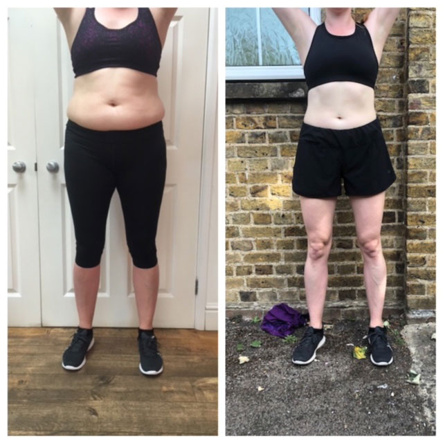 Personal training before & after photo